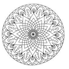 Simple abstract Mandala, From the gallery : Mandalas
