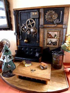 1/6Scale Steampunk Room スチームパンクな部屋 玄関に飾る♪ ドールハウス |バンビーニ ミニチュア・ドールハウス・インテリア雑貨の部屋|Ameba (アメーバ) http://s.ameblo.jp/wooolllooow/entry-11948821974.html