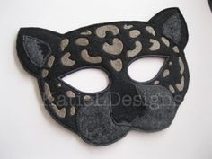 In The Hoop Jaguar Mask Machine Embroidery Design by KatieLDesigns. Very fun DIY Halloween costume!