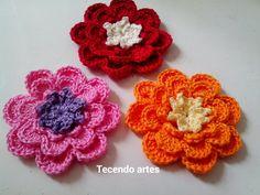 Tecendo Artes em Crochet: Fazendo Flores!