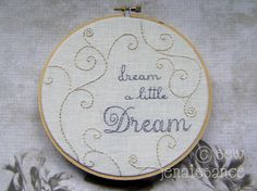 Embroidery Pattern PDF  Sweet Dreams Spirals by sewjenaissance, $5.00