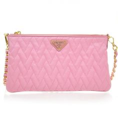 PRADA Tessuto Impuntu Nylon Quilted Sling bag in pink