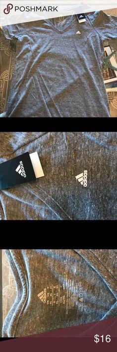 Women's Adidas Gray t-shirt white logo Gray shirt with white logo size XL adidas Tops Tees - Short Sleeve