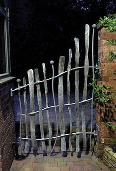 Metal garden gate sculpture ~ David Freedman