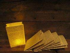 Book Page Luminaries are another great idea for a book party.