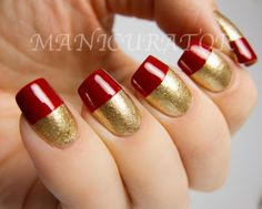 Zoya red tipped gold001