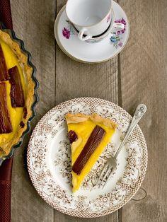 Francouzský koláč s rebarborou