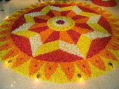 ,Athapookkalam 3d Rangoli, Easy Diwali Rangoli, Rangoli Colours, Rangoli Patterns, Rangoli Ideas, Diwali Diy, Rangoli Designs Diwali, Simple Rangoli, Rangoli Designs Latest