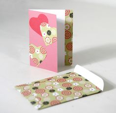 Create your own Card Valentines day and Envelope DIY attached