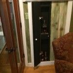 DIY Secret Wall Compartment - panel opens up to reveal hidden storage