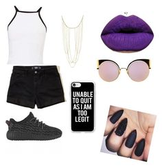 """""""Cool cat 😎"""" by abewildin on Polyvore featuring Miss Selfridge, Hollister Co., Adoriana, Fendi and Casetify"""