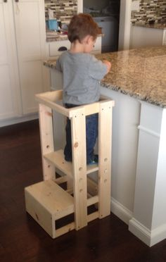 Child Kitchen Helper Step Stool by TeddyGramsTotTowers on Etsy https://www.etsy.com/listing/262784511/child-kitchen-helper-step-stool