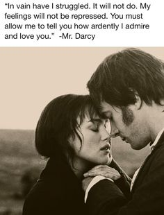 Jane Austen-Pride and Prejudice, handsome Mr. Darby and his love, Elizabeth