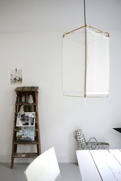 """Someday I hope to find a lovely old ladder similar to this ~ it has Character with a capital """"C""""..."""