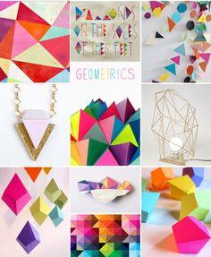Geometric Wedding Inspiration Ideas on the Posh Blog!