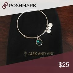 Emerald May Birthstone Alex and Ani Bundle 3 or more to receive a dust bag! Alex and Ani Jewelry Bracelets