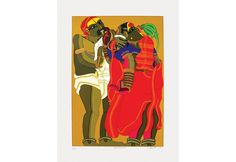 'Couple with Parrot' - Serigraph by T Vaikuntam in 60 Colours Famous Indian Artists, Female Characters, Parrot, Colours, Paintings, Couples, Artwork, Prints, Parrot Bird
