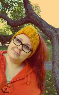 Knitted headband. Knitted Headband, Glasses, Eyewear, Eyeglasses, Eye Glasses, Knit Headband, Sunglasses