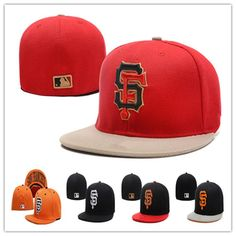 2e51f3acd12 Wholesale San Francisco Giants Fitted Hats Baseball Caps Fits Cap Size Flat  Brim Ball Cap Team Sports Fashion Hat
