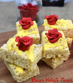 Belle's rice krispies - perfect for a Beauty and the Beast party!