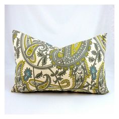 J. Carter Handmade Pillows / Henna Citrine Natural Designer Lumbar found on Polyvore