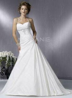 Bustier en coeur bretelles fines perlé taffetas robe de mariée pas chère  http://www.modanie.fr/bustier-en-coeur-bretelles-fines-perle-taffetas-robe-de-mariee-pas-chere-produit-5548.html