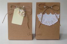 DIY Favour Boxes Brown Kraft Goodie BAG Pack OF 50 | eBay