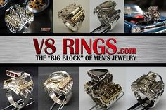 V8 Rings.com - Automotive Jewelry and Car Show DVDs