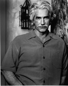 """""""Sam"""" Elliott is an American actor. His rangy physique, thick horseshoe moustache, deep, resonant voice, and Western drawl puts him on my top list of Sexy Older Men. Sacramento, Big Lebowski, Sam Elliott Pictures, Katharine Ross, Raining Men, Forever, Thing 1, Good Looking Men, Famous Faces"""