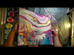 """Acrylic Pour Painting on canvas dirty pour ROY G BIV """"too much paint"""" - YouTube"""