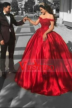 2017 vestidos de baile de baile se viste del satén hombro con tren de barrido Applique US$ 229.99 VEPY93BEXX - 2016Vestido.com for mobile