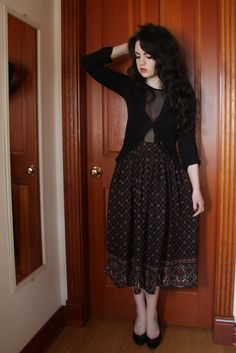 Cardian - Suzy Shier / Mesh Panel Bodysuit  - eBay / Maxi Skirt - Thrift Shop / Leather Heels - Used to be Mum's     I've had such a ti...