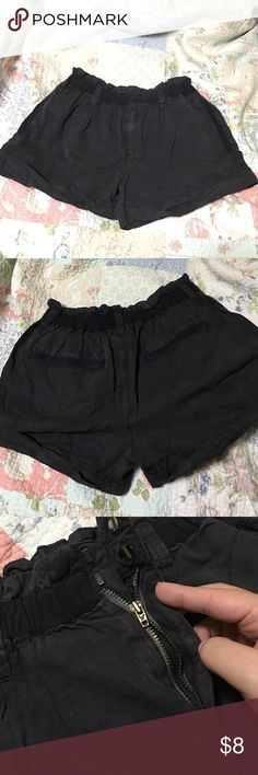 American Eagle Outfitters shorts Pre-owned and loved ❤ worn lightly. Dark gray color, front and back pockets, and belt loop holes. Very comfy. Only flaw is that zipper is broken. Needs a new home. American Eagle Outfitters Shorts