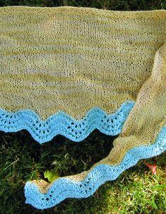 Hannah's Sand and Sea Shawlette » Knit Picks Blog