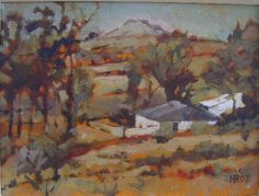 Artist: Harvey Rothschild Title: Farmhouse near Colesburg Medium: Oil on board Size: 300 x 220