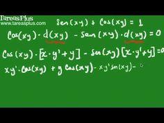 Derivada implícita de una función suma de seno y coseno
