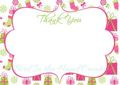 A personal favorite from my Etsy shop https://www.etsy.com/listing/216150002/christmas-thank-you-cards-notes-flat