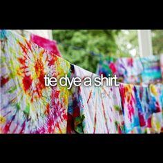 tye-dye a shirt    @beforeidie- #webstagram