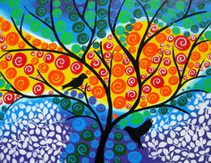 art wall art tree of life tree painting tree art tree by SheerJoy