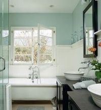 Simple and neutral bathroom color