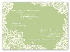 Ornamental Flourish 5x7 Invitation | Bridal Shower Invitations