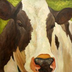 Zwart bonte moderne koe - handgeschilderd uit Nederland