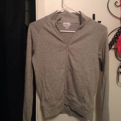 Calvin Klein jeans sweater Cute grey Calvin Klein zip up sweater Calvin Klein Sweaters