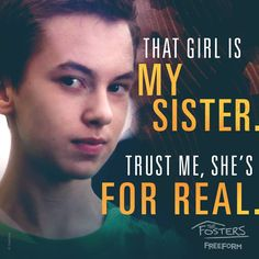 My sister The Fosters Series Movies, Book Series, Brandon Foster, The Fosters Tv Show, Hayden Byerly, Step Up Revolution, Switched At Birth, Beau Mirchoff, Chad Michael Murray