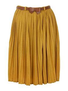 Yumi Pleated skirt http://shop.pixiie.net/yumi-pleated-skirt-mustard/