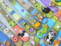 Porcelain China Mugs Polymer Clay Animals, Polymer Clay Canes, Polymer Clay Miniatures, Fimo Clay, Polymer Clay Projects, Clay Crafts, Polymer Clay Jewelry, Clay Pen, Fondant Animals