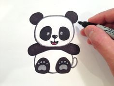 How to Draw a Panda Bear? published in Massify Online Magazine Hobbies, Games & Gift Ideas – There are a lot of people wonder if they can draw the cute lovely shape of the Panda bear, including me of course. I have found a lot of interesting d… – – Panda Painting, Painting For Kids, Drawing For Kids, Drawing Ideas, Panda Drawing Easy, Bear Drawing, Interesting Drawings, Easy Drawings, Panda Mignon