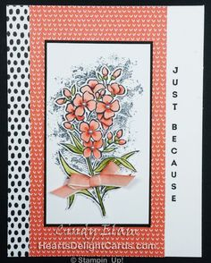 Southern Serenade, Stampin' Up! Cards For Friends, Friend Cards, Homemade Greeting Cards, Stampin Up Catalog, Stamping Up Cards, Flower Cards, Tricks, Paper Crafts, Card Crafts