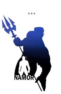 Namor - Ego by Steve Garcia - Marvel comics Comic Book Characters, Marvel Characters, Comic Character, Comic Books Art, Comic Art, Marvel Heroes, Marvel Avengers, Superhero Silhouette, Silhouette Art