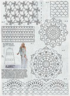 "Photo from album ""Журнал Мод № 609 on Yandex. Hippie Crochet, Freeform Crochet, Thread Crochet, Crochet Stitches, Crochet Motif Patterns, Crochet Bikini Pattern, Crochet Designs, Crochet Skirts, Crochet Clothes"